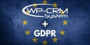 WP-CRM System GDPR Compliant