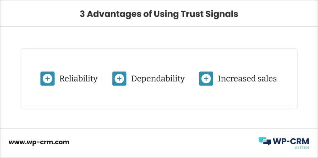 3 Advantages of Using Trust Signals