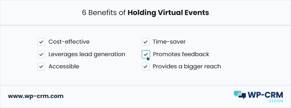 6 Benefits of Holding Virtual Events