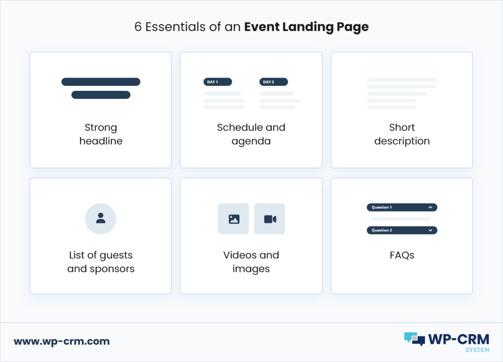6 Essentials of an Event Landing Page