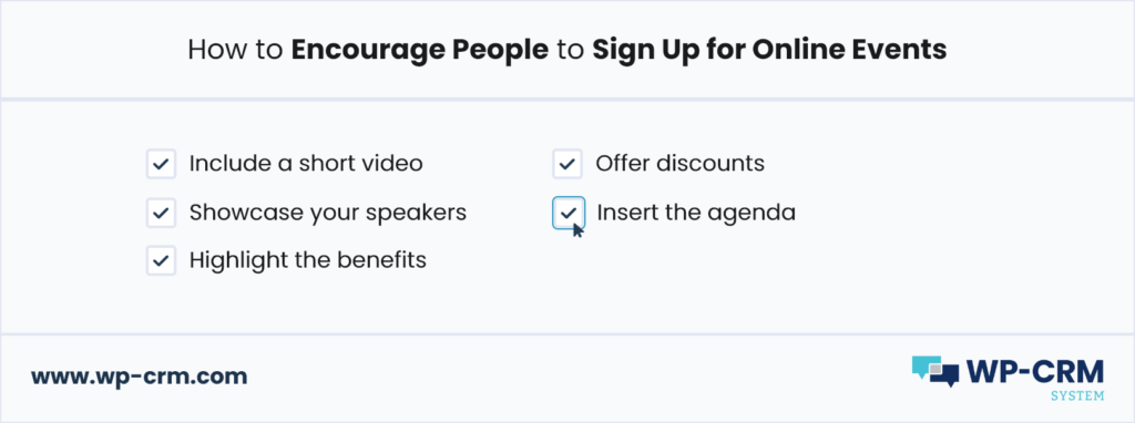 How to Encourage People to Sign Up for Online Events