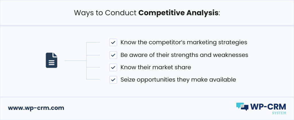 Ways to Conduct Competitive Analysis