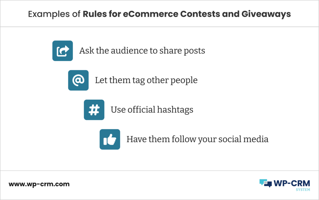 Examples of Rules for eCommerce Contests and Giveaways