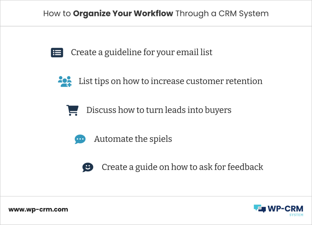 How to Organize Your Workflow Through a CRM System