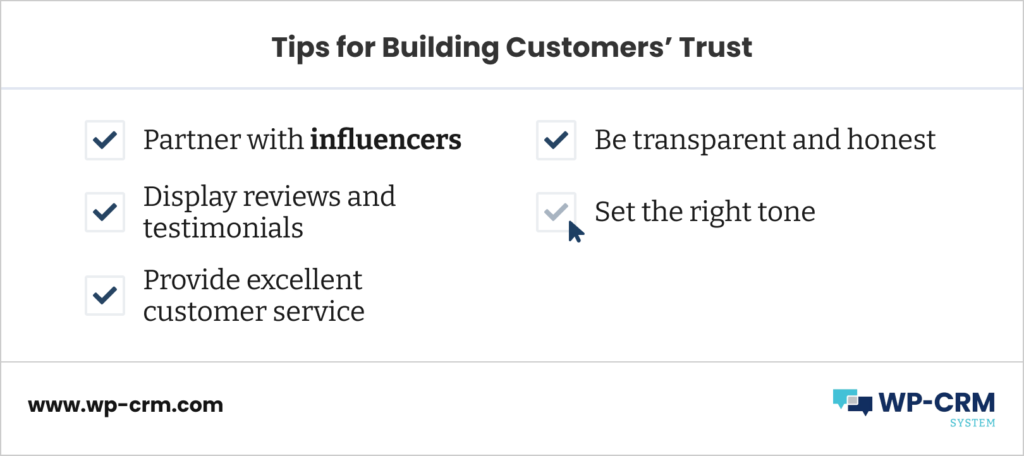Tips for Building Customers' Trust